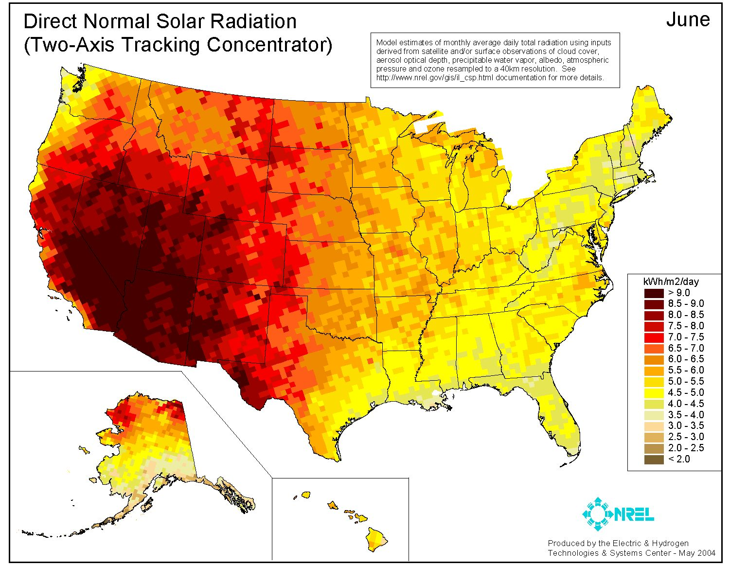 Home | Energy Solutions | Solar Power Maps | June |